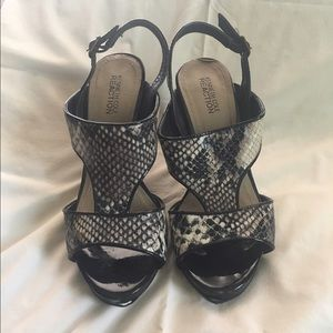 Kenneth Cole Reaction Shoes - Snakeskin and patent sandals by Kenneth Cole