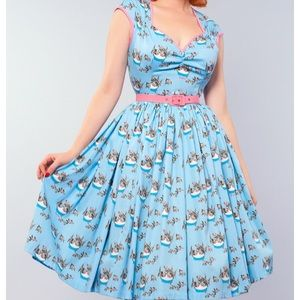 Pinup girl clothing Mary Blair cats dress nwt