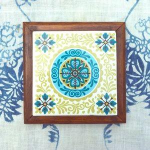Vintage 70's Ceramic Tile Trivet