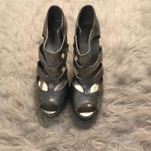 City Street Silver Heels
