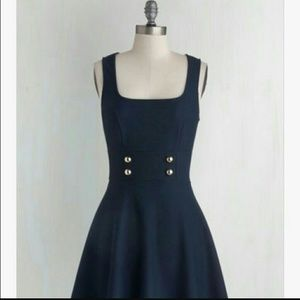 Mystic Dresses & Skirts - MYSTIC MOD CLOTH darling navy dress L