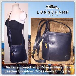 Longchamp Handbags - VTG Longchamp Roseau Shoulder Cross-body Sling Bag