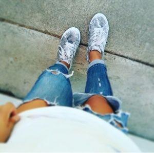 //The Lexi// Grey velvet lace up Sneaker
