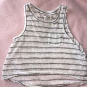 Abercombie Kids Other - Abercrombie Kids sz small white and gray top