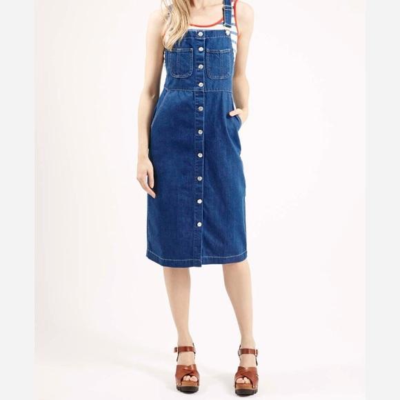 b759b082c33 Sale***Topshop Denim Midi Overall Dress. M_5943095c4127d07e4e004bc8