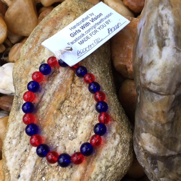 handmade bracelets for a cause 17 jewelry blue patriotic bead bracelet for a 6288