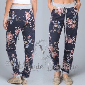 Floral French Terry Jogger Pants