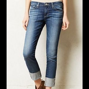 Ag Adriano Goldschmied Denim - The Stevie Straight Cuff Denim Jeans Size 25