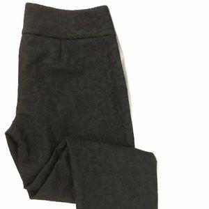 Elle Pants - Black Lace Floral Print Crop Pants