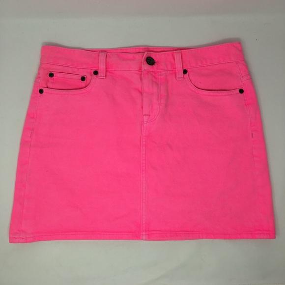 cf300c1aec J. Crew Dresses & Skirts - Women's J.Crew Neon Pink Denim Skirt