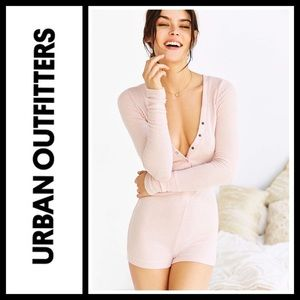 Urban Outfitters Other - Urban Outfitters Cozy Brushed Ribbed Romper