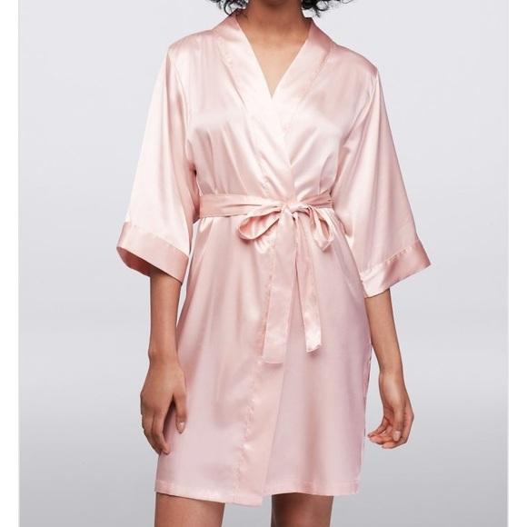 e60da105a3 BLANK Luxury Satin Robe in BLUSH pink - S M