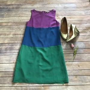 Madewell silk color block dress