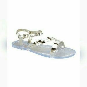 Shoes - *FINAL PRICE Ladies Silver Transparent Sandal
