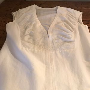 Tops - Lafayette148 white cap sleeve size 6 button down.