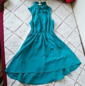 Belle Du Jour Dresses & Skirts - NWOT Collar Teal Blue Dress