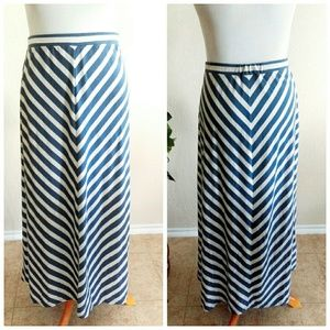 Faded Glory Skirts - Heather Gray & Blue Maxi Skirt (2-3XL)