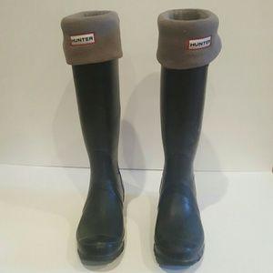 HUNTER BOOTS BLACK SIZE 6 RAINBOOTS