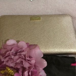 Kate Spade ♠️ leather rose gold wallet nwt