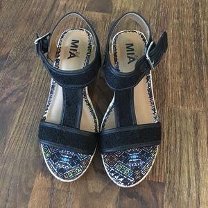 Mia Girl Other - Brand New Black Wedge Sandal