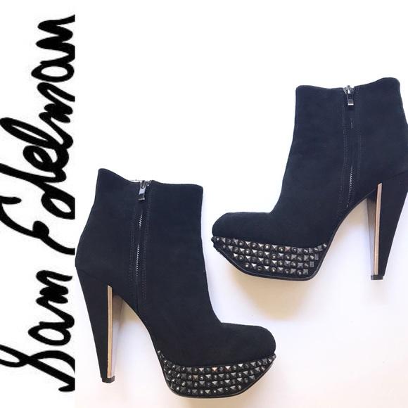 f42c08455866c8 Sam Edelman Yalene Heel Ankle Boots Studded 8M. M 59431b615c12f8e65a0089c1
