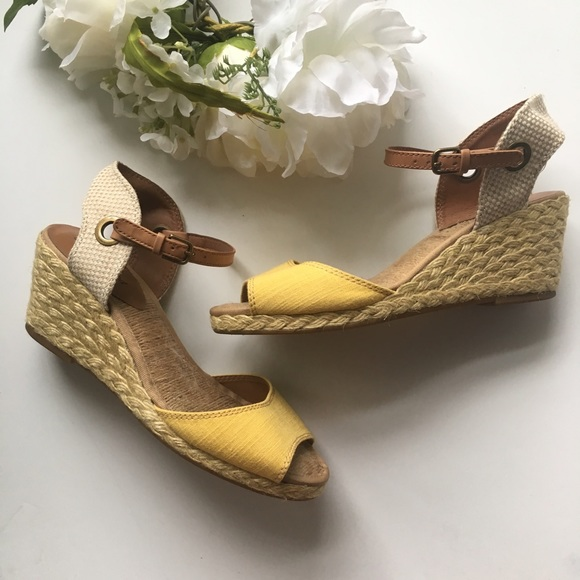 ee03d3f0d0 Lucky Brand Shoes - Lucky Brand // Kyndra Espadrilles Wedges - yellow