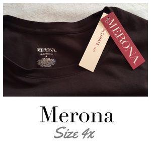 New with Tags Merona 4X brown long sleeve T shirt