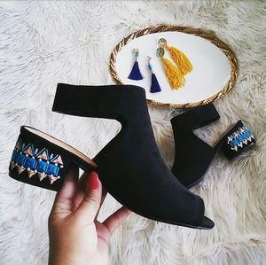 LAST PAIR!! //The Sammie// Black chunky heel