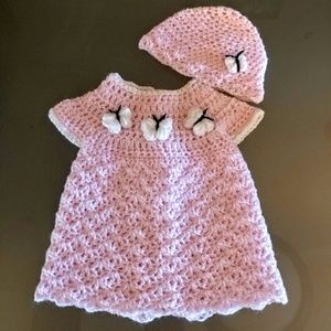 Other - Baby Dress and Beenie