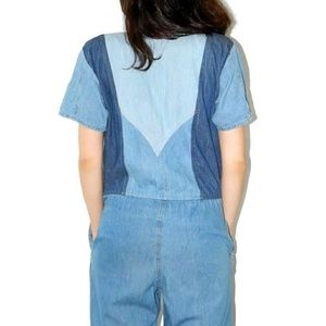 Vintage Pants - Vintage denim jumpsuit