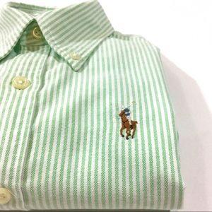 Ralph Lauren Tops - Ralph Lauren Slim Fit Striped Button-Down