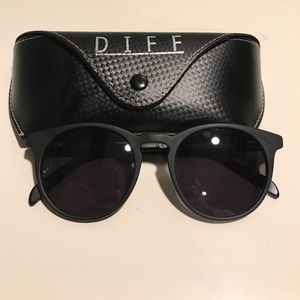Diff Eyewear Accessories - DIFF eyewear black Charlie polarized sunglasses