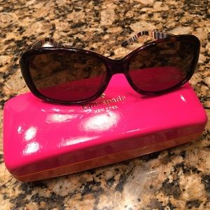 kate spade Accessories - KATE SPADE TORTOISE AND STRIPED SUNGLASSES W/CASE