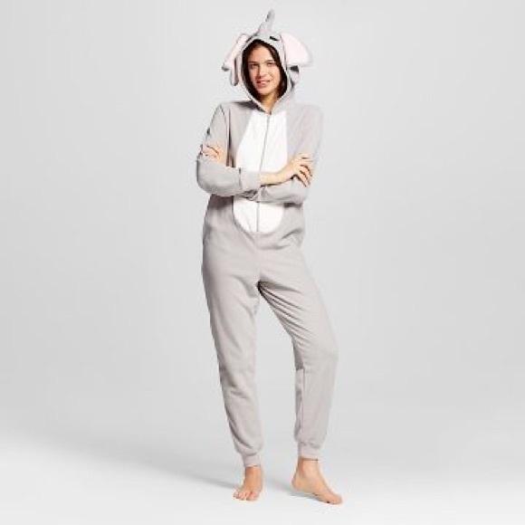 Target Intimates Amp Sleepwear Elephant Onesie Pajama Suit