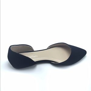 Shoes - Black open sides flats, new in box