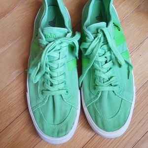 Gola Shoes - Worn once Gola bright green canvas sneakers sz 8