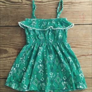 Tucker + Tate Other - Tucker + Tate jade ikat dress with Pom-Pom trim.