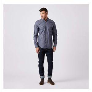 Five Four Other - Five Four Co. Navy Wash Button Down