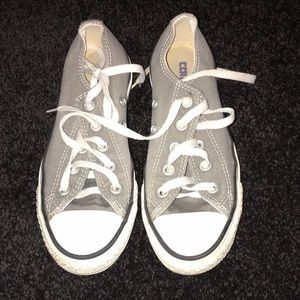 Converse Shoes - Gray Converse Low Top