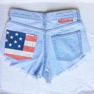The Laundry Room Pants - American Flag Cut Off Shorts 🇺🇸