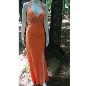 Mori Lee Dresses & Skirts - 📍💥WOW💥📍📍 Orange Sequins Mori Lee Dress