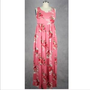 Dresses & Skirts - Sleeveless maxi floral dress ONE HOUR SALE
