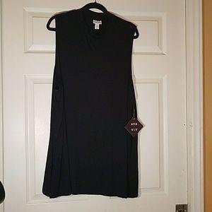 Ava & Viv Tops - Ava & Viv black high neck tunic or mini dress NWT