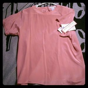 Anna And Frank Tops - 100% silk pink Blouse