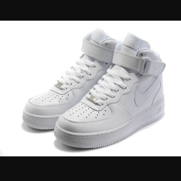 All White Hightop Air Force Ones