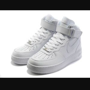 white high top air force ones