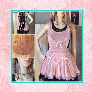 Dresses & Skirts - 🎀 New 3pc: pink baby doll apron dress set