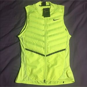 Nike Other - Nike Running Aeroloft 800 Vest Volt Yellow Size S