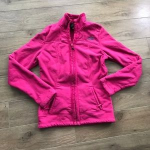 The north Face TNF full zip fleece jacket hot pink