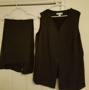 August max Pants - Black pin strip suit